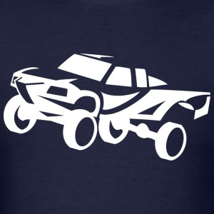 truck desert race white Hoodies - Men's T-Shirt