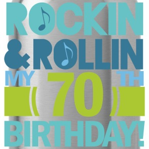 70th Birthday Music Themed Funny T-Shirts - Water Bottle