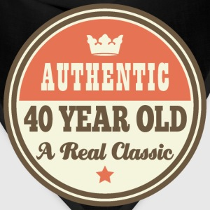 40th Birthday Funny Vintage Crown T-Shirts - Bandana