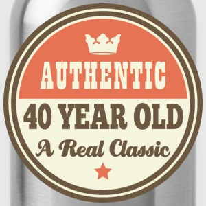 40th Birthday Funny Vintage Crown T-Shirts - Water Bottle