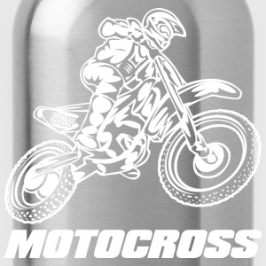 Motocross Logo White Kids' Shirts - Water Bottle