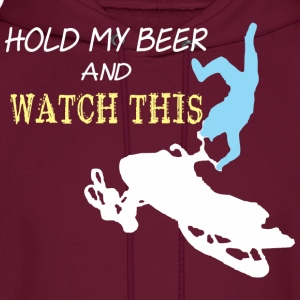 Snowmobile Hold My Beer And Watch This - Men's Hoodie