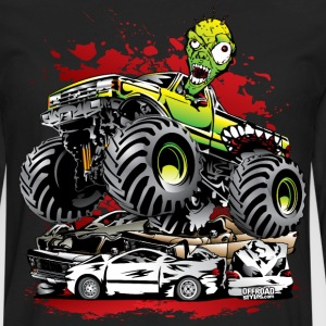 Ghoulish Monster Truck T-Shirts - Men's Premium Long Sleeve T-Shirt