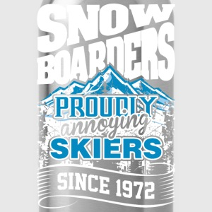 Snow Boarders Proudly Annoying Skiers Since 1972 - Water Bottle