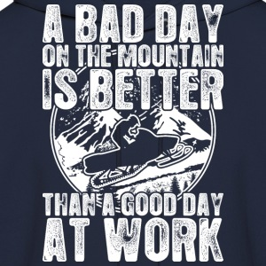Snowmobile A Bad Day On The Mountain Is Better - Men's Hoodie