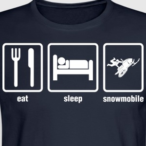 Eat Sleep Snowmobile - Men's Long Sleeve T-Shirt