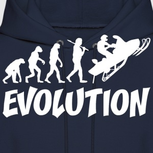 Snowmobiler Evolution - Men's Hoodie