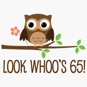 65th Birthday Owl Look Whoos 65 Mugs & Drinkware - Men's Premium Long Sleeve T-Shirt