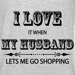 I Love It When My Husband Lets Me Go Shopping Hoodies - Men's Premium Long Sleeve T-Shirt