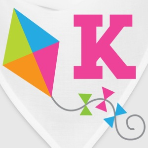 Letter K Cute Kite Monogram Alphabet Kids' Shirts - Bandana