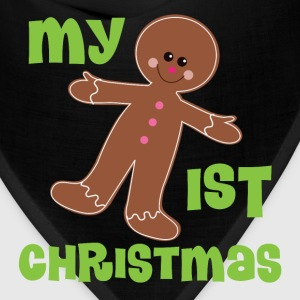 1st Christmas Holiday Gingerbread Man Cookie Baby & Toddler Shirts - Bandana