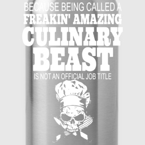 chef job, Chef Jacket, chef's hat, master chef - Water Bottle