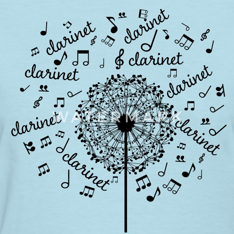 Clarinet Music Notes Band Women's T-Shirts - Women's T-Shirt