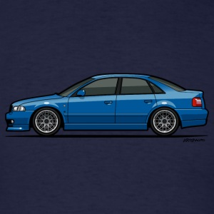 Audi A4 Quattro B5 Sedan (Nogaro Blue) Long Sleeve Shirts - Men's T-Shirt