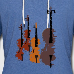Quartet of bowed string instruments Women's T-Shirts - Unisex Lightweight Terry Hoodie