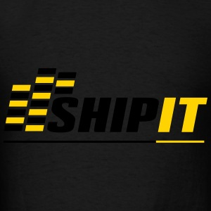 Ship It - Black Hoodie - Men's T-Shirt