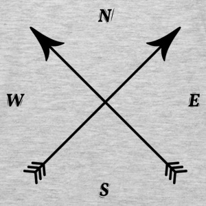 Compass Print, North, East, South, West Hoodies - Men's Premium Long Sleeve T-Shirt