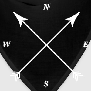 Compass Print, North, East, South, West T-Shirts - Bandana
