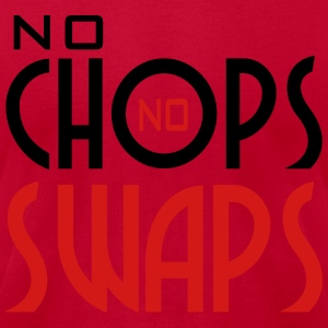 No Chops No Swaps - Red Hoodie - Men's T-Shirt by American Apparel
