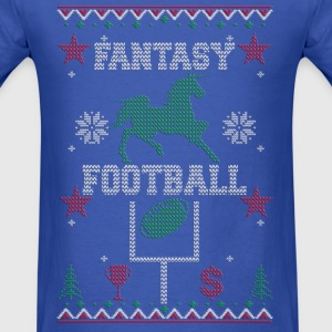 Fantasy Football Ugly Christmas Apparel Long Sleeve Shirts - Men's T-Shirt