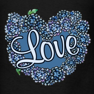Love blue floral wedding - Men's T-Shirt