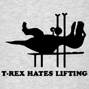 T-REX HATES LIFTING Tank Tops - Men's T-Shirt