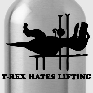 T-REX HATES LIFTING Tank Tops - Water Bottle