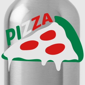 pizza dripping italy flag colors cheese salami sli T-Shirts - Water Bottle