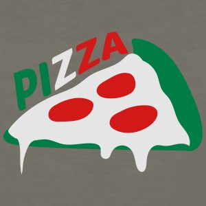 pizza dripping italy flag colors cheese salami sli T-Shirts - Men's Premium Long Sleeve T-Shirt