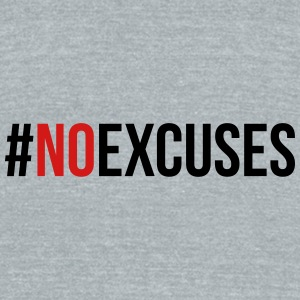 No Excuses  Caps - Unisex Tri-Blend T-Shirt by American Apparel