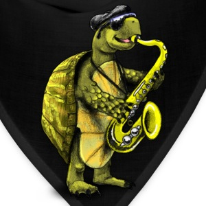Cool Jazz Sax Playing Turtle - Bandana