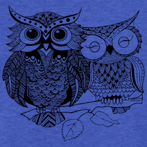 Love Owls South Seas Sweatshirts - Fitted Cotton/Poly T-Shirt by Next Level