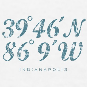 Indianapolis Coordinates Mug (White) - Men's T-Shirt