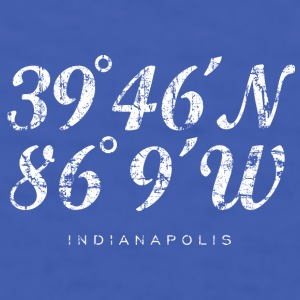 Indianapolis Coordinates Mug (Blue) - Men's T-Shirt
