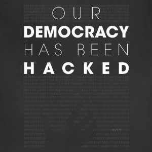 Mr Robot fsociety hacked democracy quotes T-Shirts - Adjustable Apron