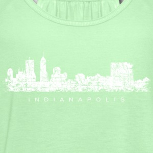 Indianapolis Skyline T-Shirt (Children/Green) - Women's Flowy Tank Top by Bella