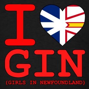 I HEART GIN Girls in Newfoundland - Men's T-Shirt