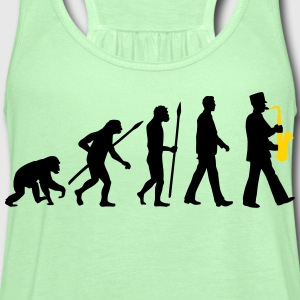 evolution of man marching band saxophone_112015_ T-Shirts - Women's Flowy Tank Top by Bella