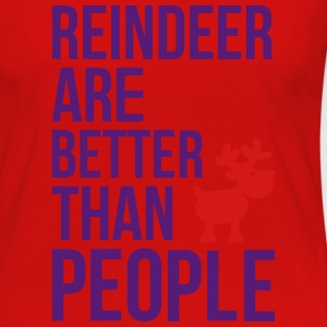 Reindeer are better than people_2c.ai Baby & Toddler Shirts - Women's Premium Long Sleeve T-Shirt