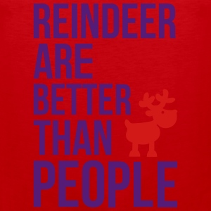 Reindeer are better than people_2c.ai Baby & Toddler Shirts - Men's Premium Tank