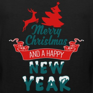 Merry-Christmas-and-a-Happy-new-Year_3c.ai Women's T-Shirts - Men's Premium Tank