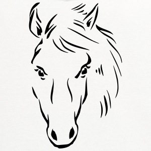 Horse Drawing T-Shirts - Contrast Hoodie