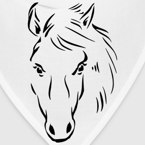 Horse Drawing T-Shirts - Bandana