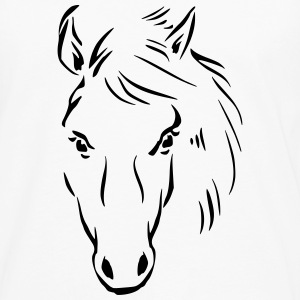Horse Drawing T-Shirts - Men's Premium Long Sleeve T-Shirt