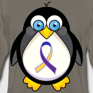 Bladder Cancer Awareness Penguin T-Shirts - Men's Premium Long Sleeve T-Shirt