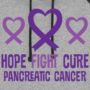Pancreatic Cancer Hope Fight Cure Ribbon Women's T-Shirts - Colorblock Hoodie