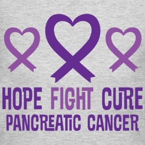 Pancreatic Cancer Hope Fight Cure Ribbon Women's T-Shirts - Women's Long Sleeve Jersey T-Shirt