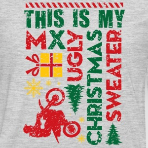 Motocross My Ugly Christmas Sweater Hoodies - Men's Premium Long Sleeve T-Shirt
