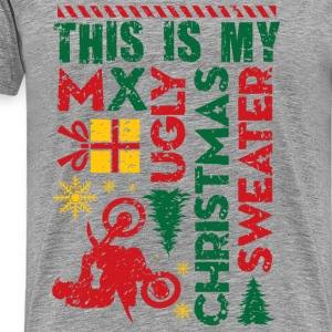 Motocross My Ugly Christmas Sweater Long Sleeve Shirts - Men's Premium T-Shirt