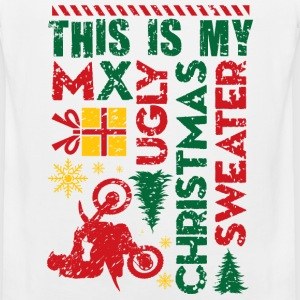 Motocross My Ugly Christmas Sweater Kids' Shirts - Men's Premium Tank